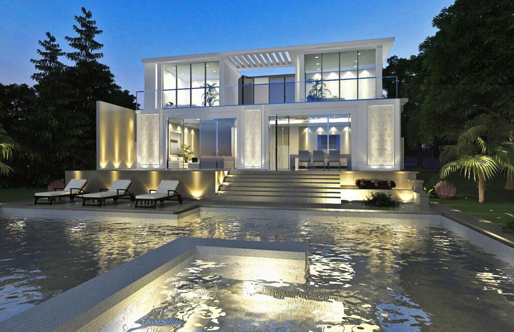 Modern Arabisque Villa Dubai 171 Ngs Architects